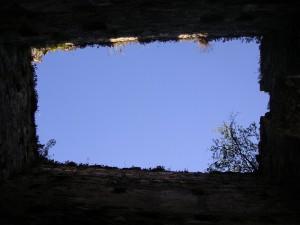 Le haut de la Tour Carrée vu de l'intérieur