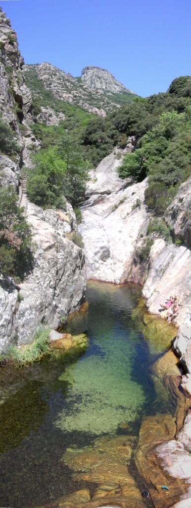 """Gorges de Colombières : le bassin """"Peppermint"""""""