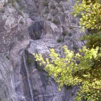 Vue panoramique de la cascade du voile de la Mariée, vue depuis la Tour Carrée