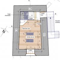 Tour Carrée - Niveau 0 : Entrée - par V.Chapal, Architecte DPLG