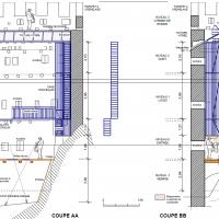 Tour Carrée - Plans et coupes - par V.Chapal, Architecte DPLG
