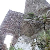 Tour Carrée de Colombières : le mur Nord en contre-plongée