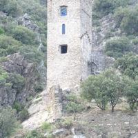Tour Carrée de Colombières rénovée : le mur Sud