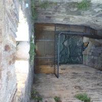 Tour Carrée de Colombières rénovée : l'intérieur vu du sommet