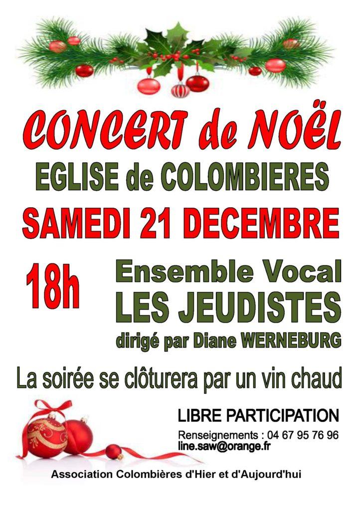 Affiche concert de Noël 2019