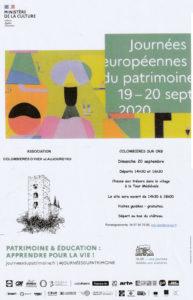 Affiche Journées Européennes du Patrimoine 2020